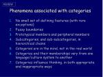 phenomena associated with categories1