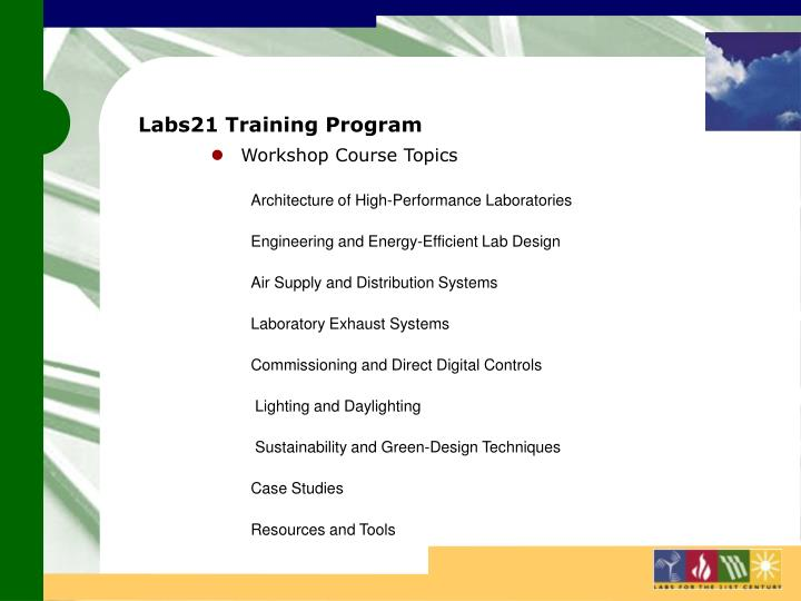 Labs21 Training Program