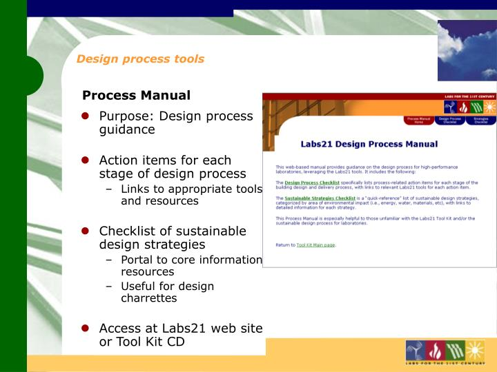 Design process tools