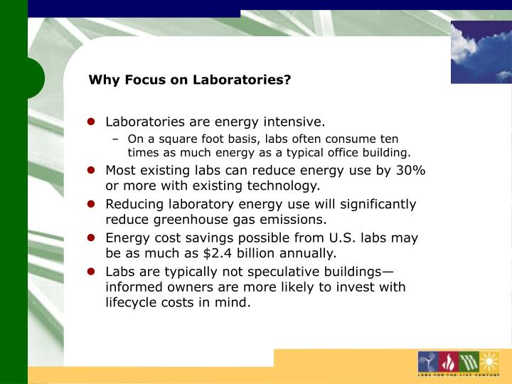 Why focus on laboratories