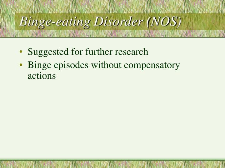 Binge-eating Disorder (NOS)