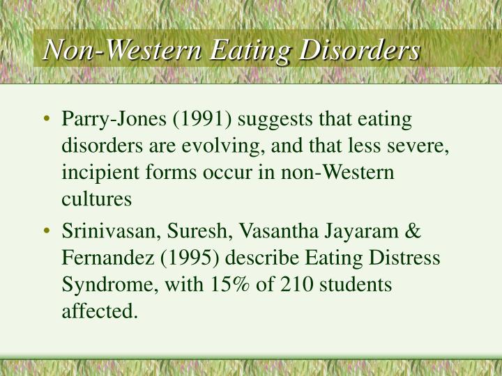 Non-Western Eating Disorders