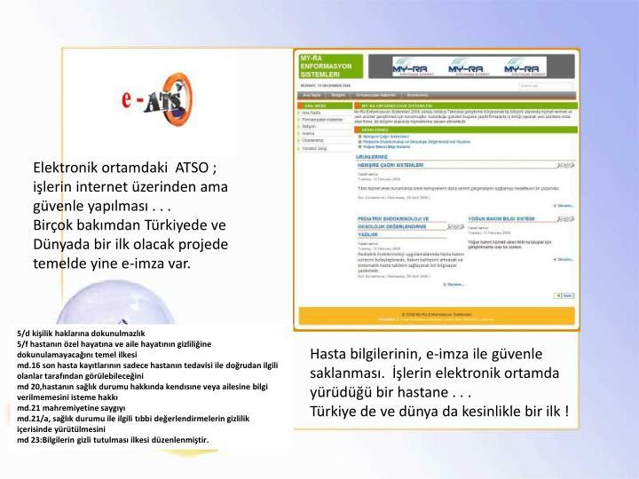 Elektronik ortamdaki  ATSO ;