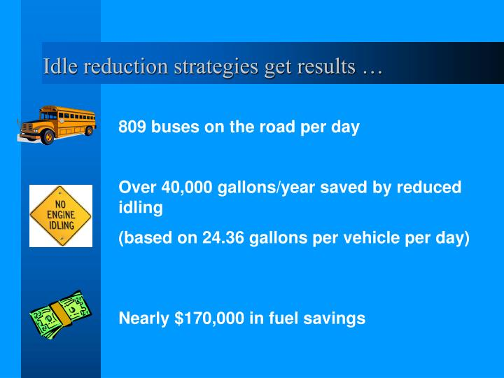 Idle reduction strategies get results …
