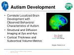 autism development