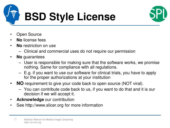 BSD Style License
