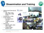 dissemination and training