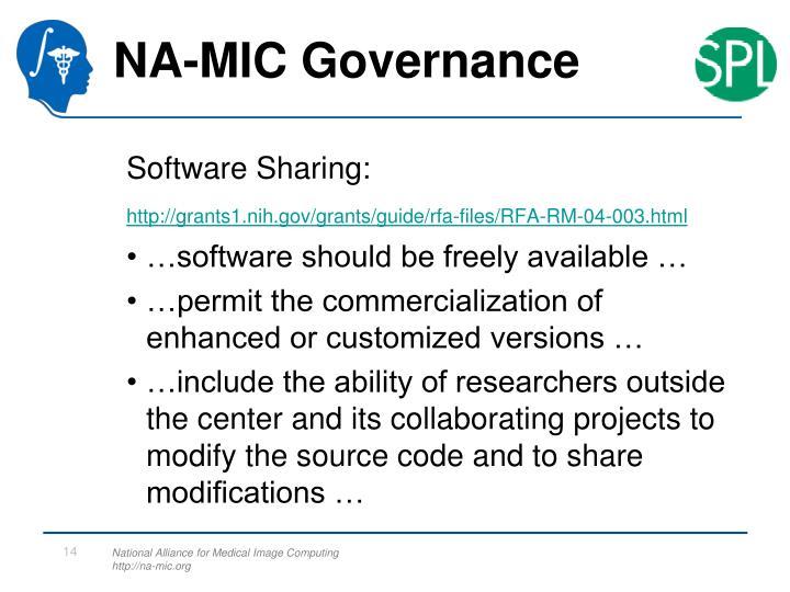 NA-MIC Governance