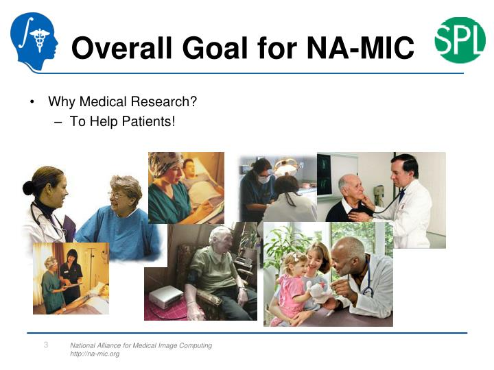 Overall Goal for NA-MIC