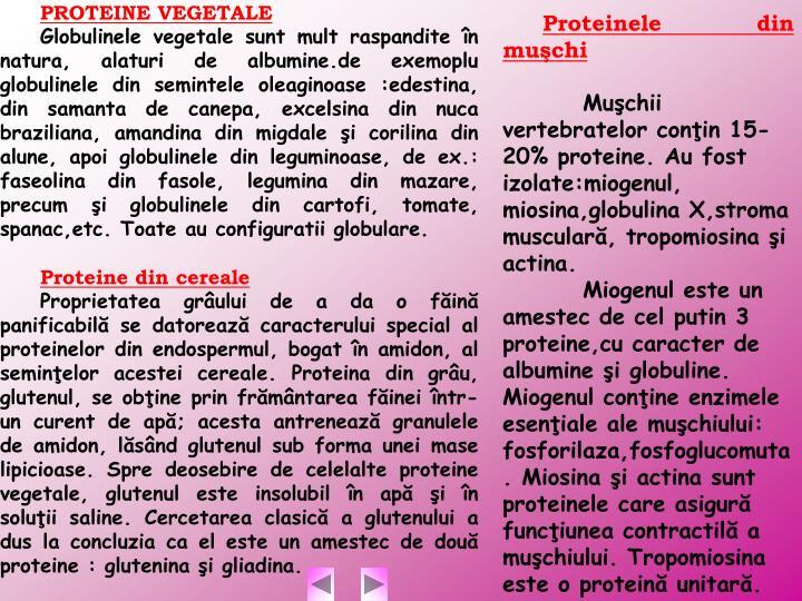 Proteinele din muşchi
