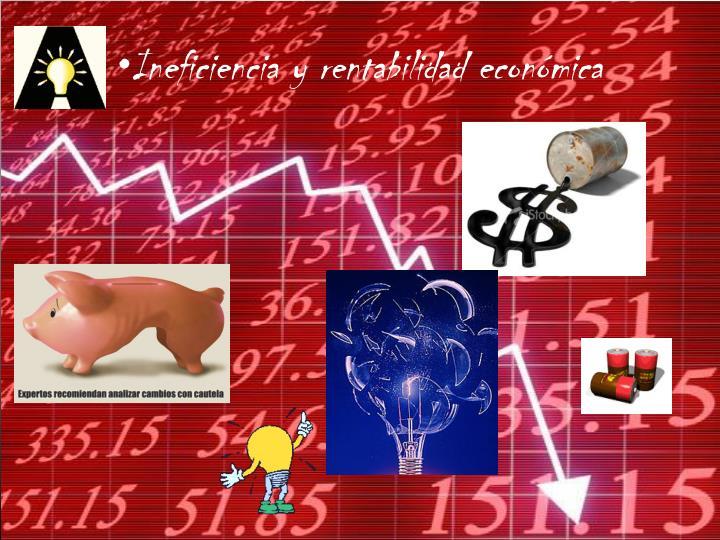Ineficiencia y rentabilidad económica