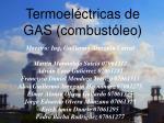 termoel ctricas de gas combust leo