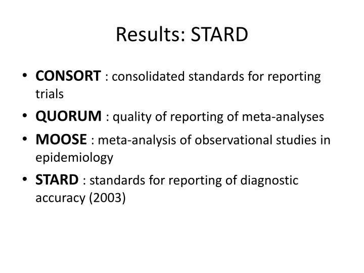 Results: STARD