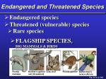 endangered and threatened species