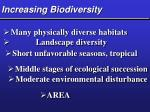 increasing biodiversity