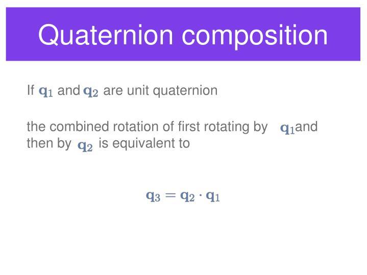 Quaternion composition