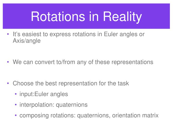 Rotations in Reality