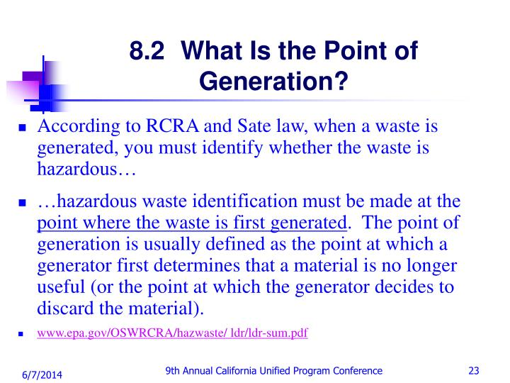 8.2 	What Is the Point of Generation?