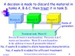 a decision is made to discard the material in tanks a b c then treat it in tank d1