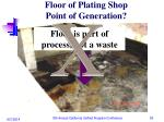 floor of plating shop point of generation