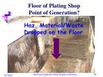 floor of plating shop point of generation1