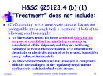 h sc 25123 4 b 1 treatment does not include