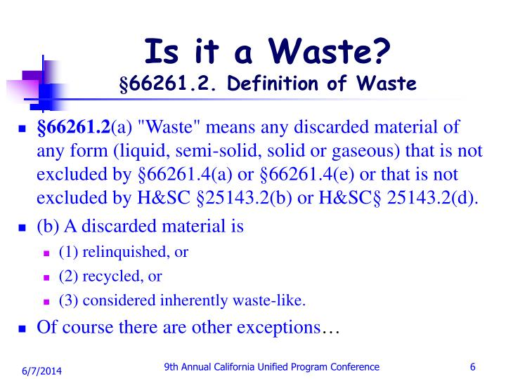 Is it a Waste?