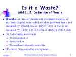 is it a waste 66261 2 definition of waste