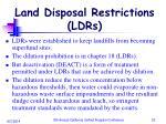 land disposal restrictions ldrs