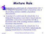 mixture rule