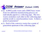 osw answer faxback 13395