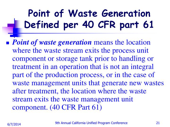 Point of Waste