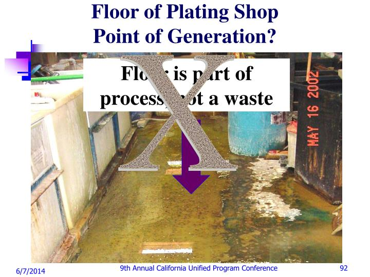 Floor of Plating Shop