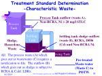 treatment standard determination characteristic waste