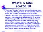 what s a site 66260 10