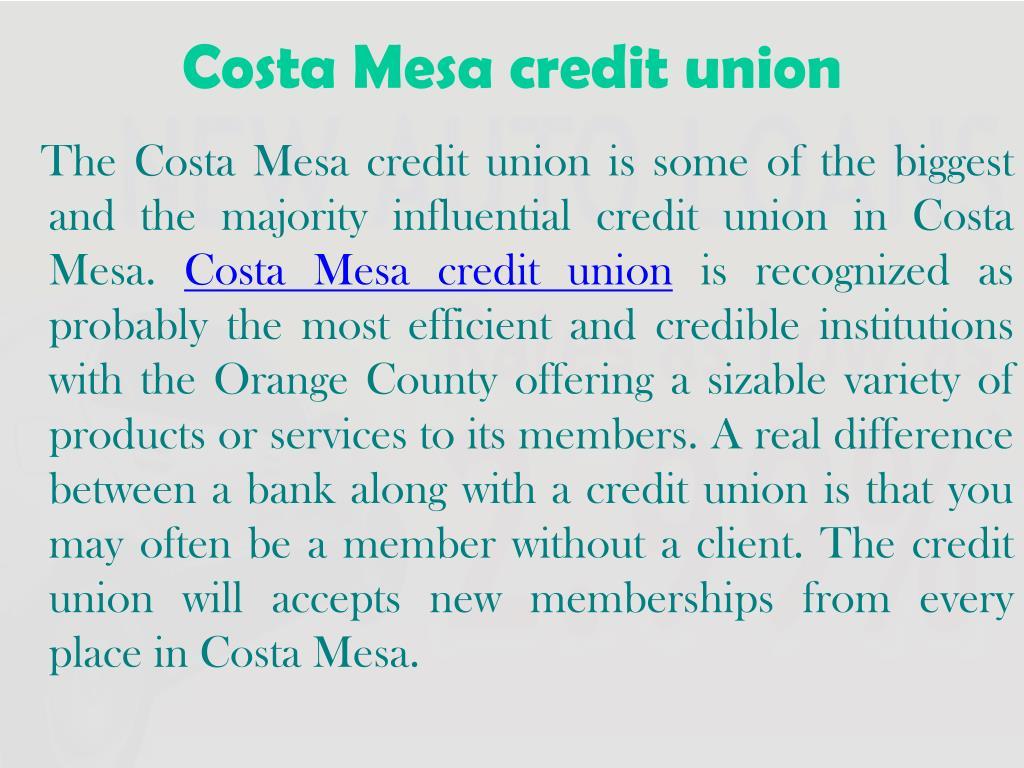 Costa Mesa credit union