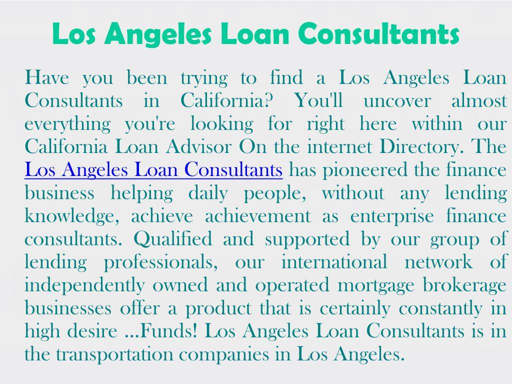 Los Angeles Loan Consultants