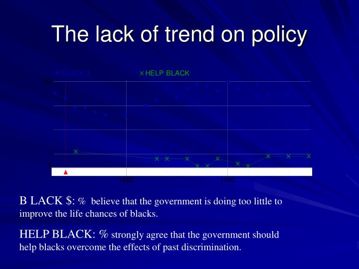 The lack of trend on policy