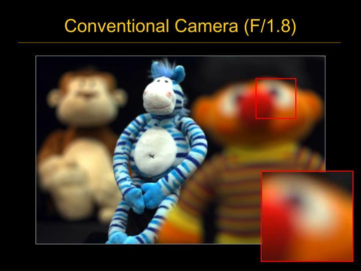 Conventional Camera (F/1.8)