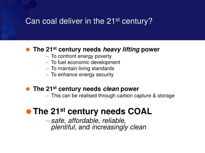 Can coal deliver in the 21