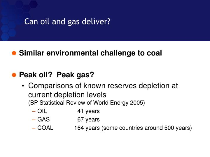 Can oil and gas deliver?