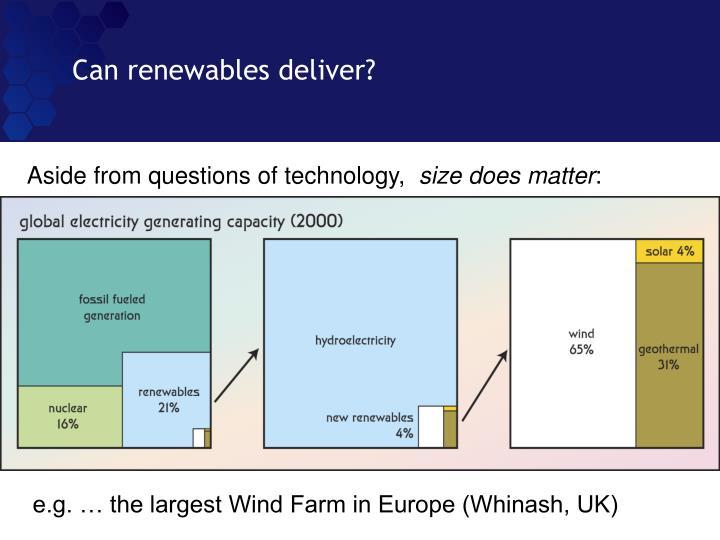 Can renewables deliver?