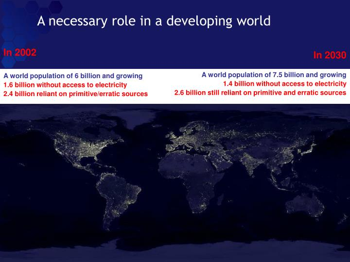 A necessary role in a developing world