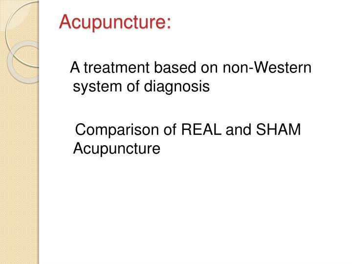 Acupuncture: