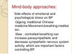 mind body approaches