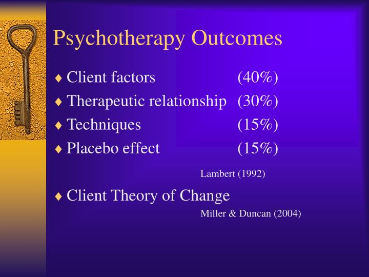 Psychotherapy Outcomes