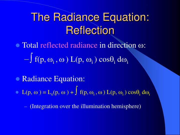 The Radiance Equation: Reflection