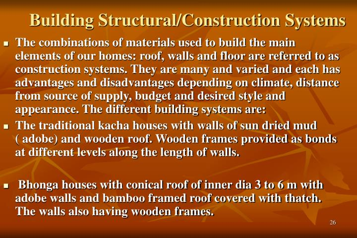 Building Structural/Construction Systems