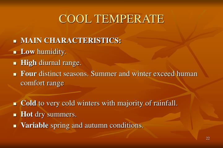 COOL TEMPERATE