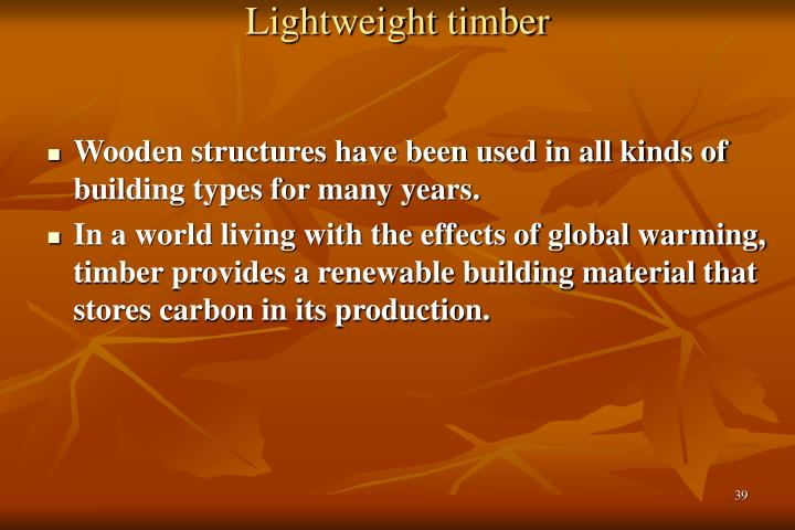 Lightweight timber